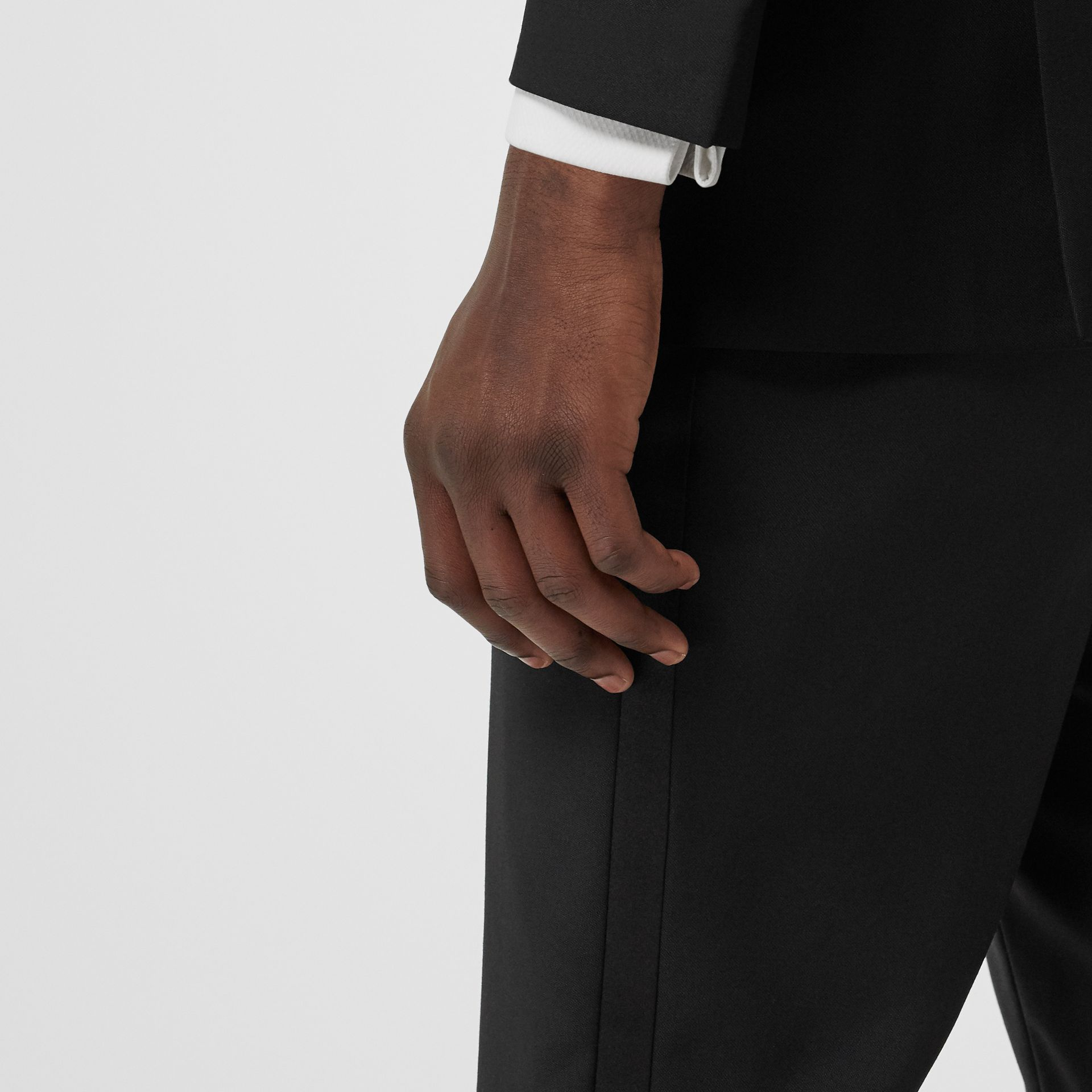 Modern Fit Wool Mohair Tuxedo in Black - Men | Burberry - gallery image 7