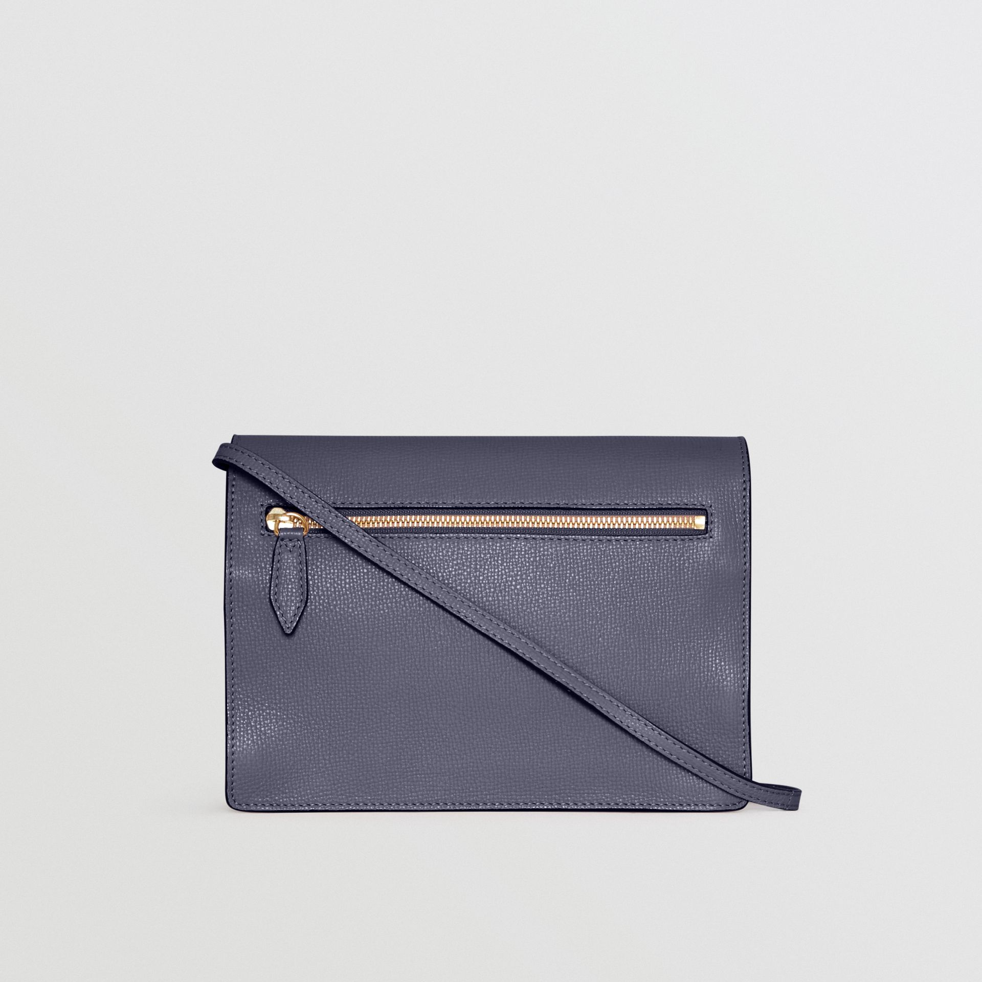 Small Leather and House Check Crossbody Bag in Ink Blue - Women | Burberry - gallery image 7