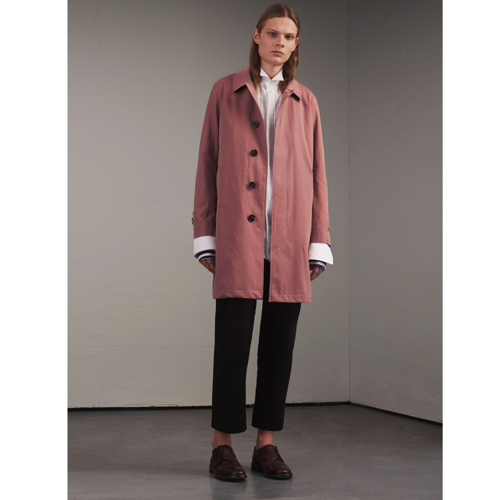 Tropical Gabardine Car Coat Antique Rose - gallery image 1