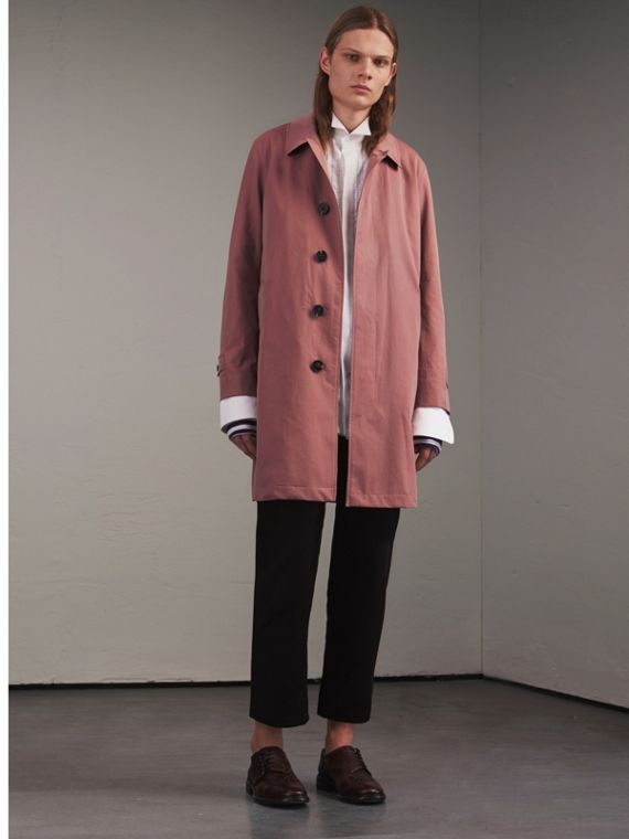 Tropical Gabardine Car Coat in Antique Rose
