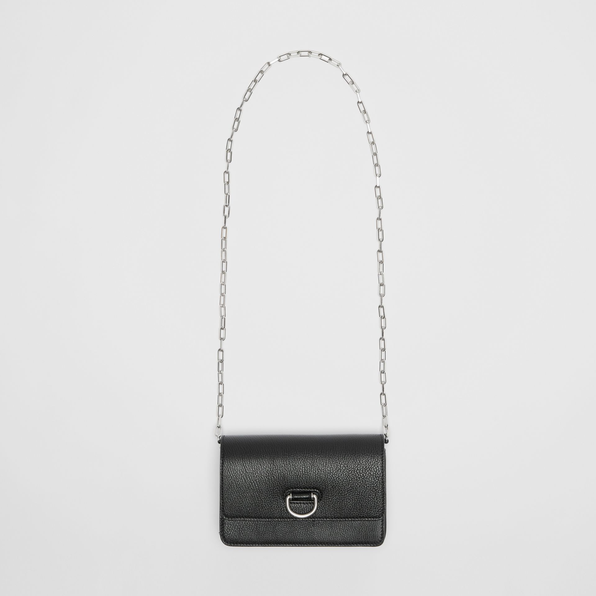 The Mini Leather D-ring Bag in Black - Women | Burberry Canada - gallery image 4