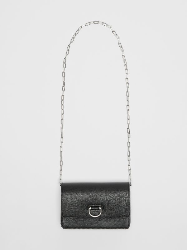 The Mini Leather D-ring Bag in Black - Women | Burberry - cell image 2