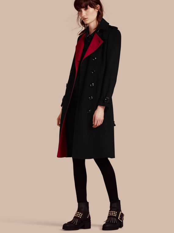 Trench-coat en cachemire de coupe slim
