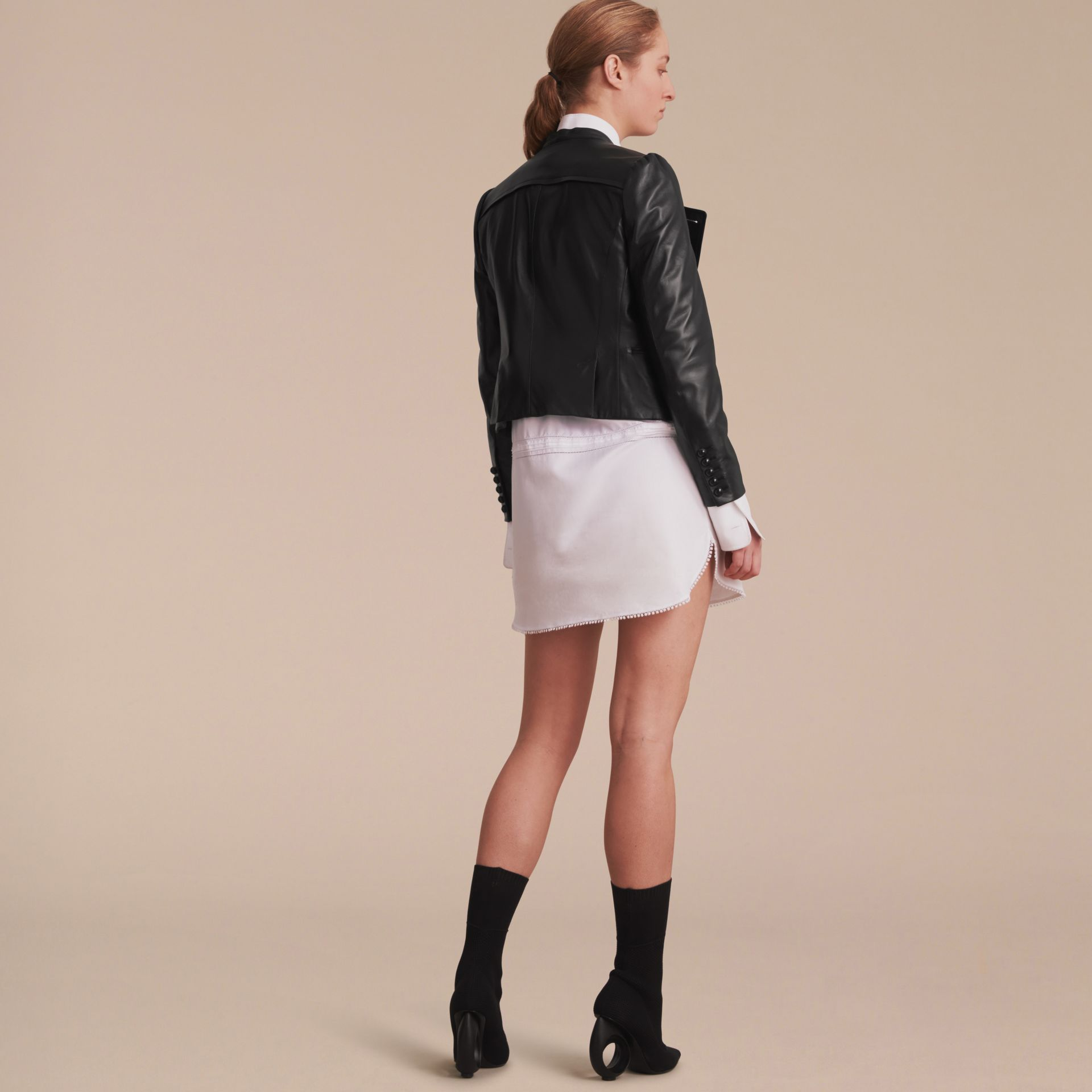 Lambskin Double-breasted Jacket - gallery image 3