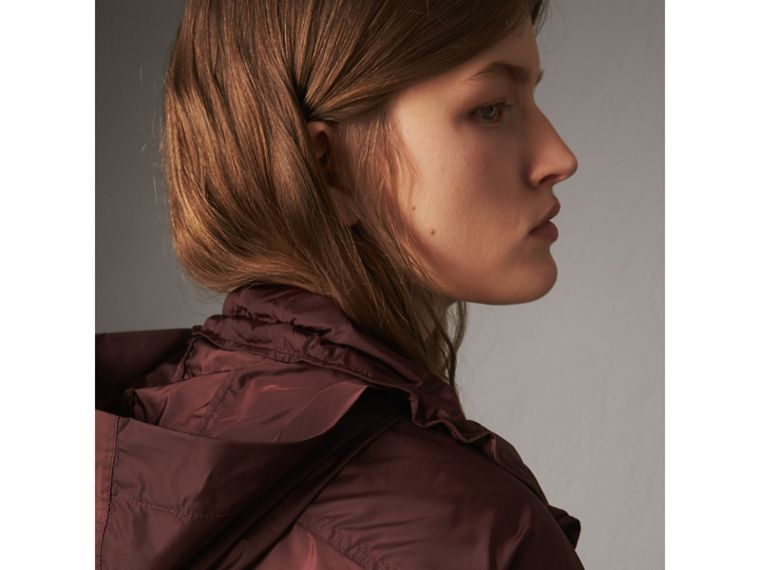 Packaway Hood Lightweight Rain Jacket in Deep Burgundy - Women | Burberry - cell image 4