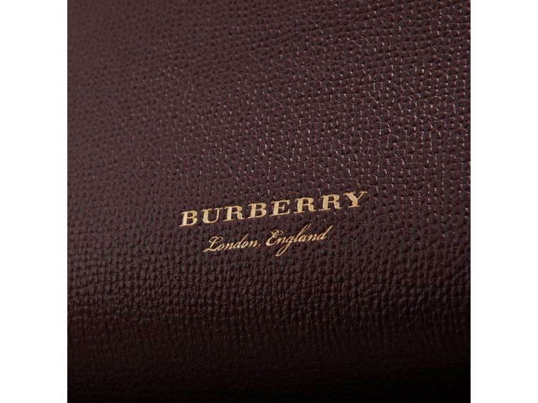 The Baby Banner in Leather and House Check in Mahogany Red - Women | Burberry Hong Kong - cell image 1
