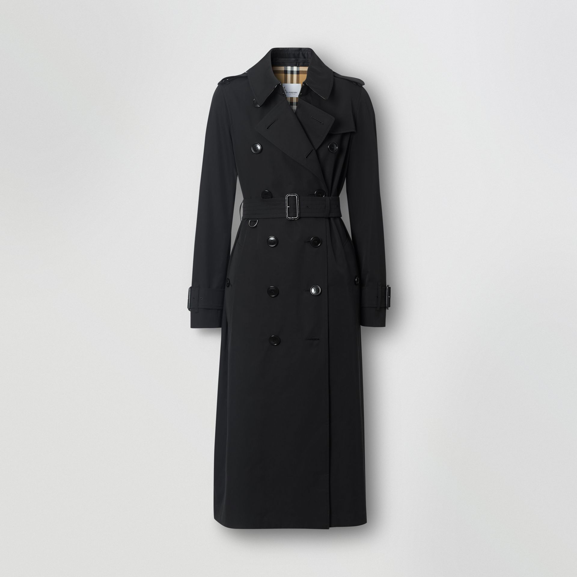 Tropical Gabardine Trench Coat in Black - Women | Burberry - gallery image 3