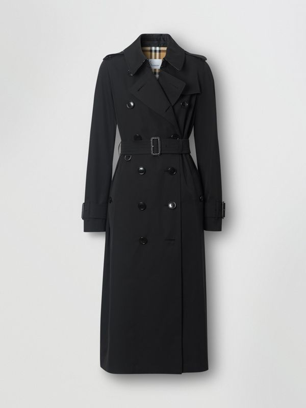 Tropical Gabardine Trench Coat in Black - Women | Burberry - cell image 3
