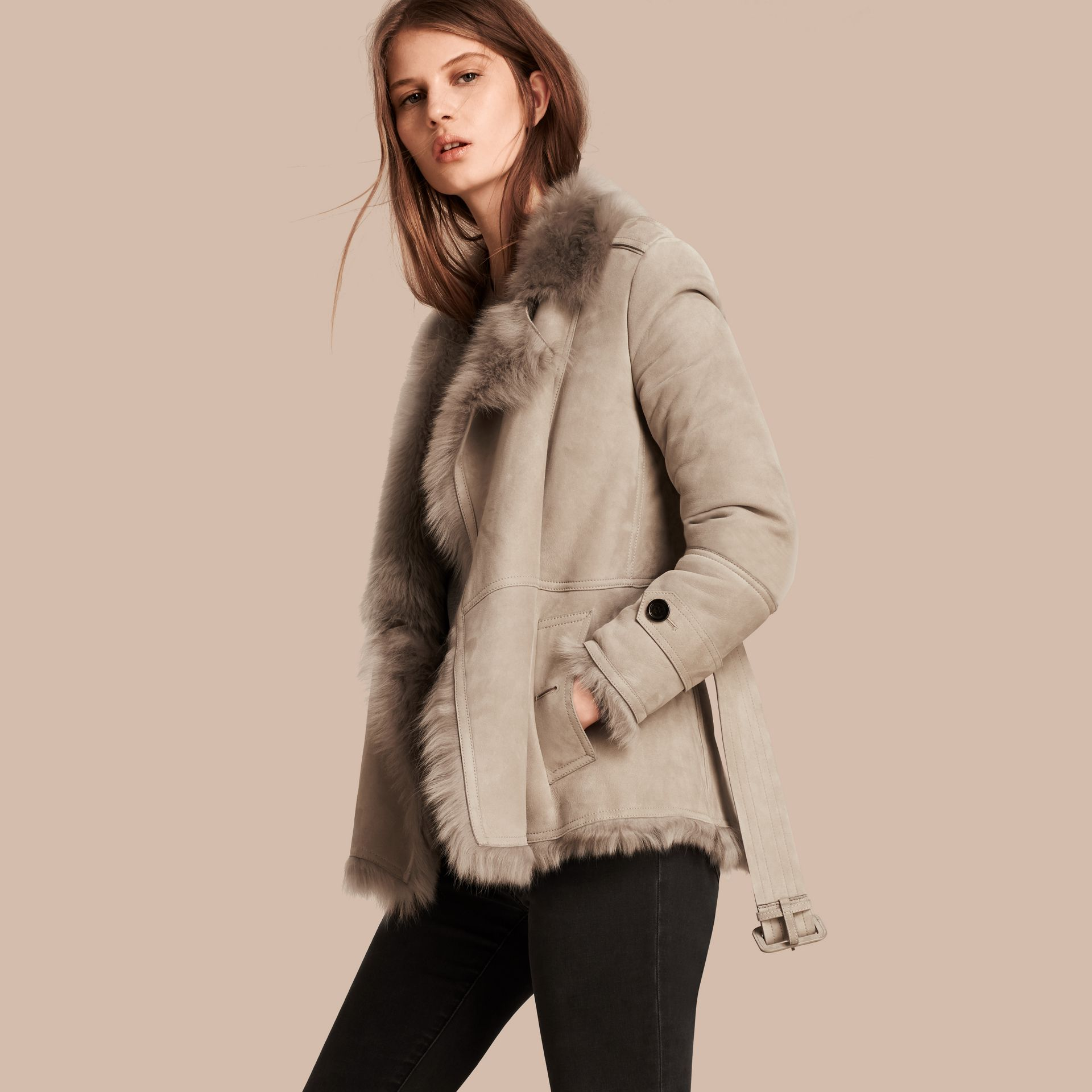 Shearling Wrap Jacket - gallery image 1