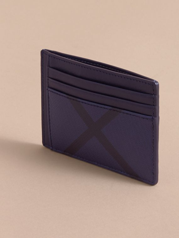 London Check Card Case in Bright Lapis - Men | Burberry - cell image 2