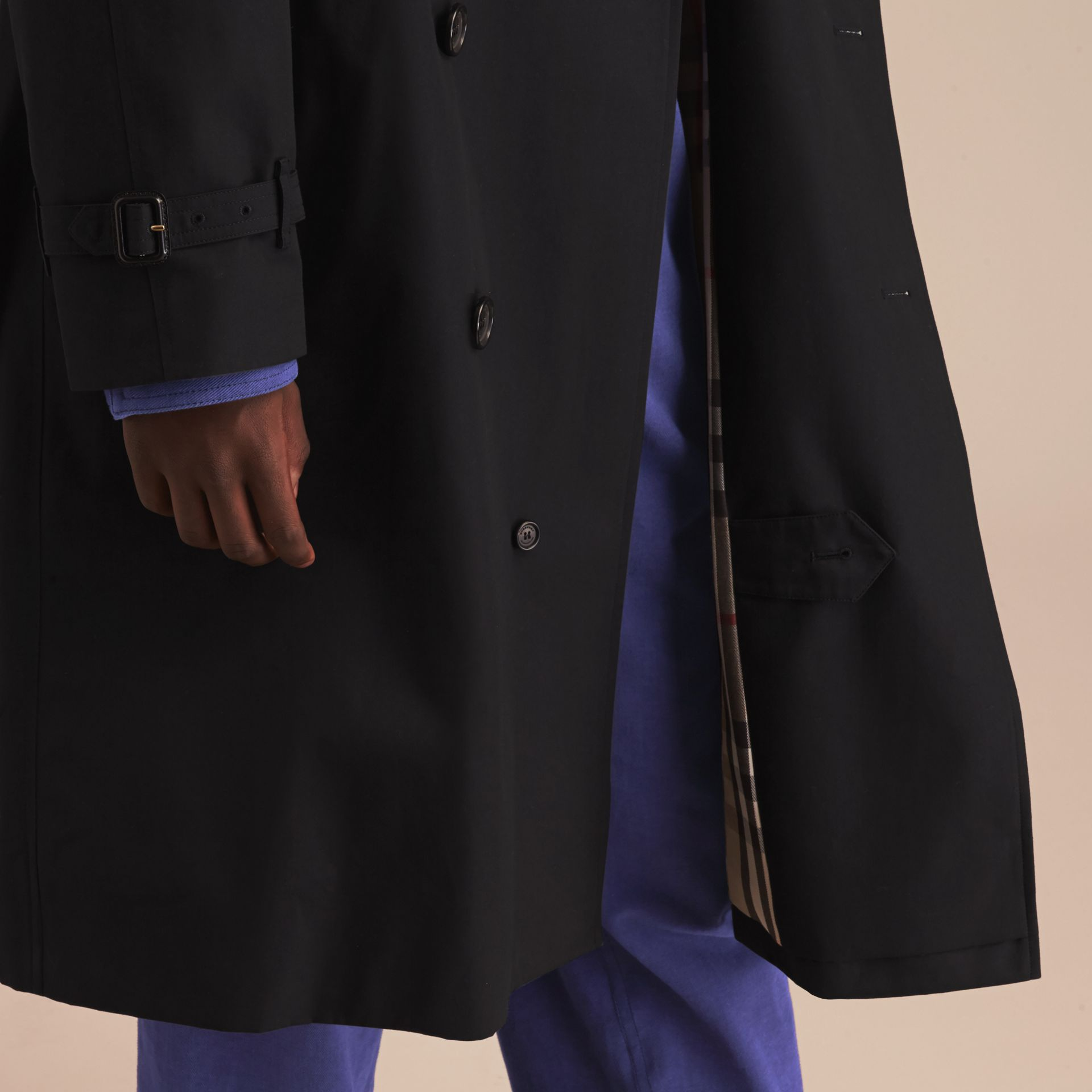 Black The Westminster – Long Heritage Trench Coat Black - gallery image 6