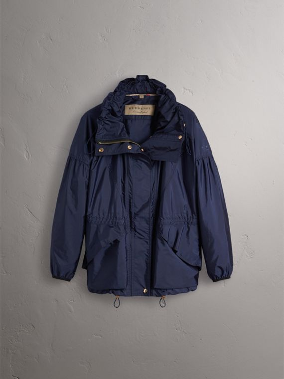 Packaway Hood Lightweight Rain Jacket in Bright Navy - Women | Burberry - cell image 3