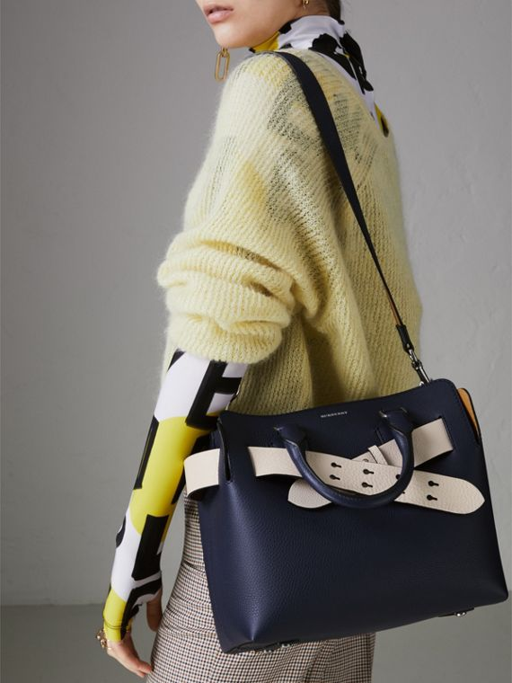 The Small Leather Belt Bag in Regency Blue - Women | Burberry - cell image 3