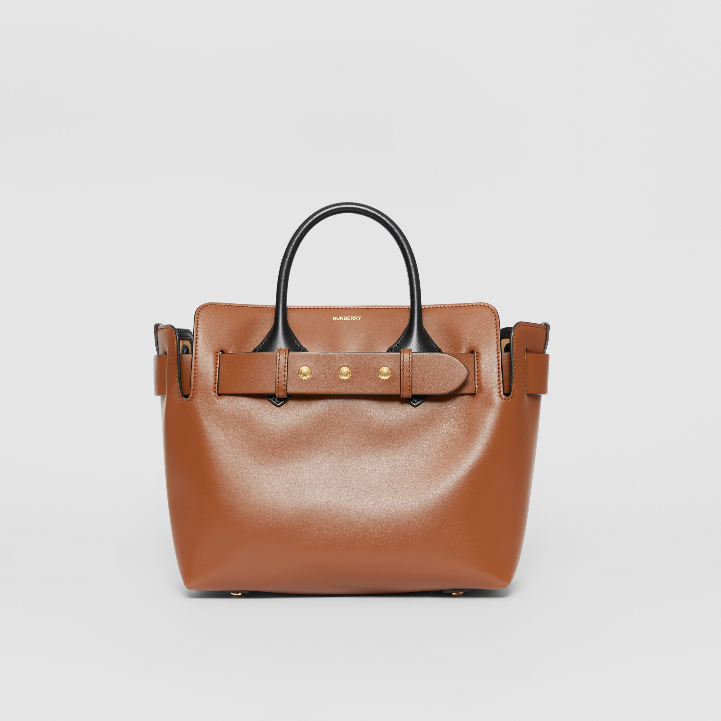 The Small Leather Triple Stud Belt Bag in Malt Brown - Women | Burberry - 1