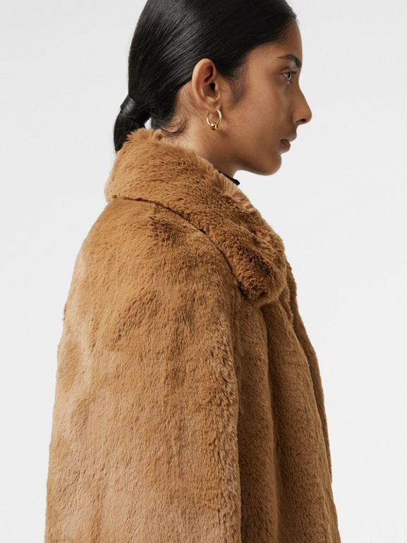 Faux Fur Cape in Camel - Women | Burberry United States - cell image 1