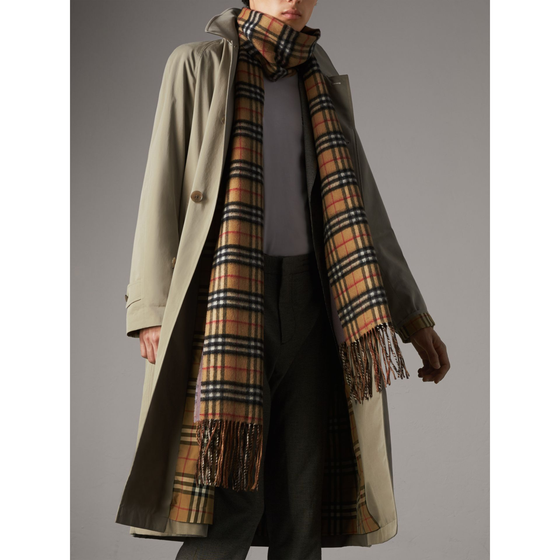 The Brighton – Longline Car Coat in Sandstone - Men | Burberry - gallery image 6