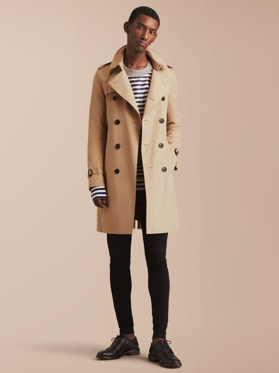 The Sandringham – Long Heritage Trench Coat in Honey - Men | Burberry Canada