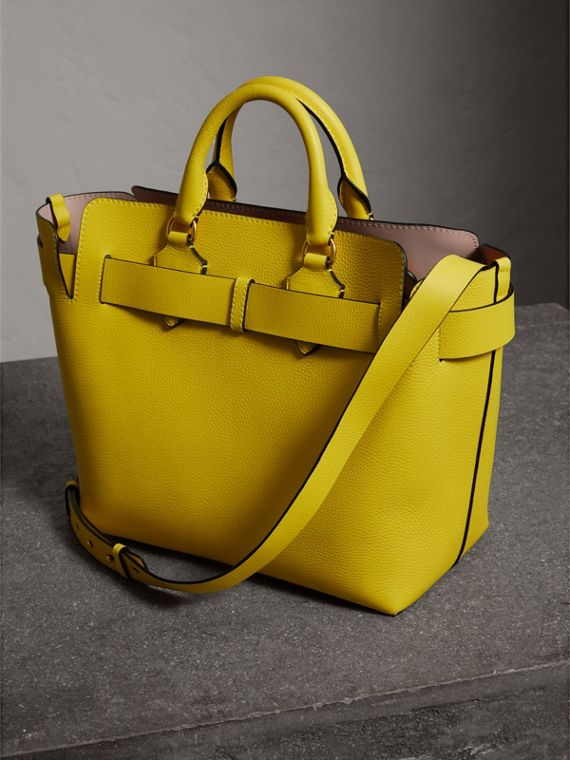 The Medium Leather Belt Bag in Bright Larch Yellow - Women | Burberry - cell image 2