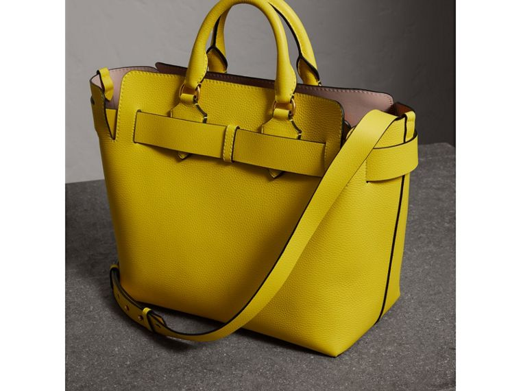 The Medium Leather Belt Bag in Bright Larch Yellow - Women | Burberry - cell image 4