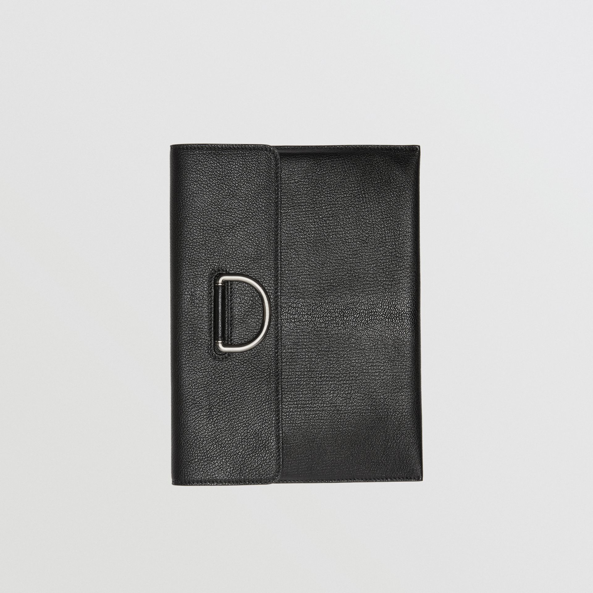 D-ring Leather Pouch in Black - Women | Burberry - gallery image 2