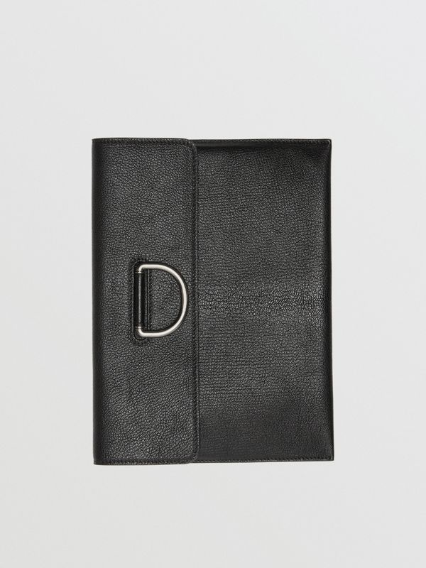 D-ring Leather Pouch in Black - Women | Burberry Australia - cell image 2