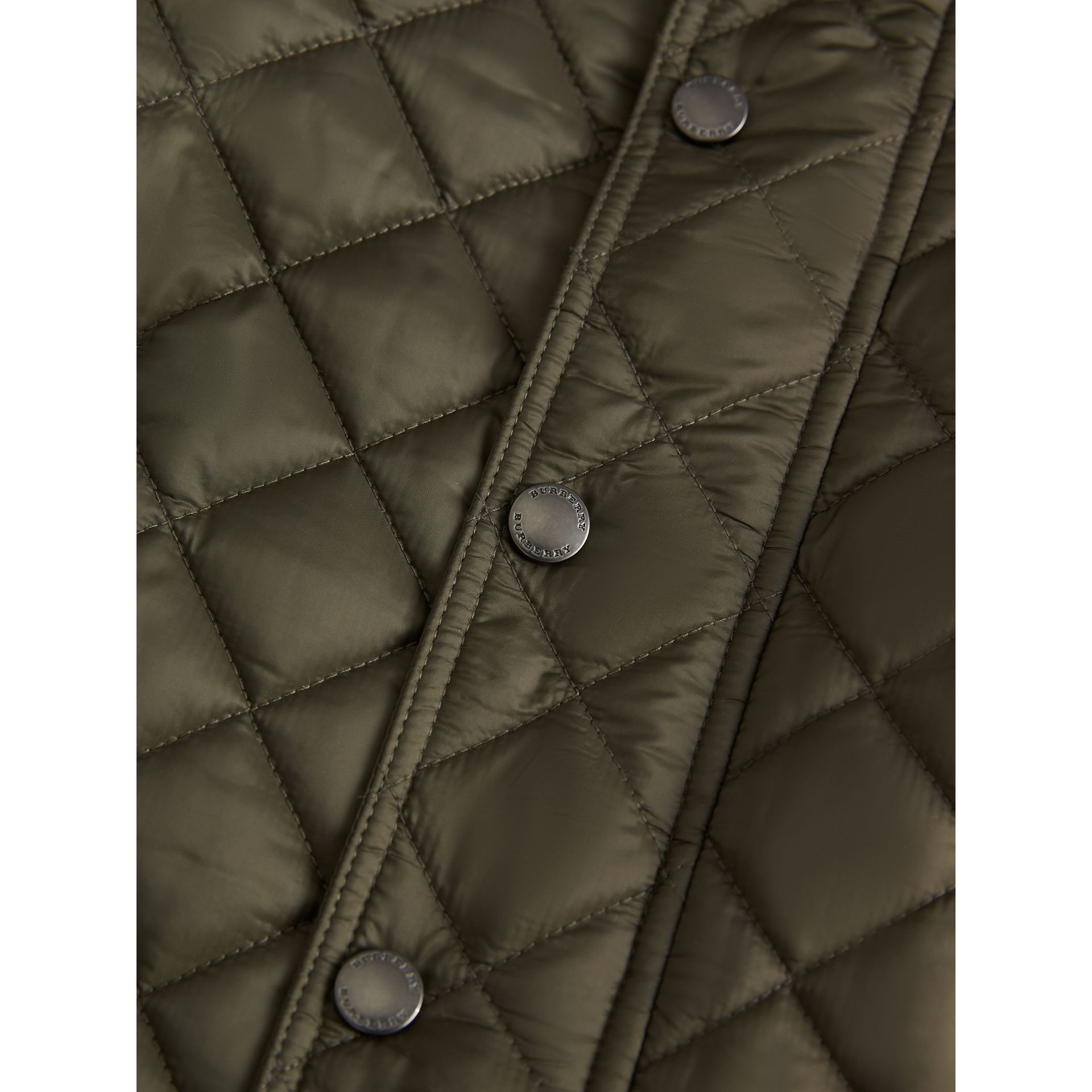 Diamond Quilted Jacket in Olive | Burberry - gallery image 1