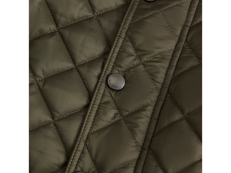 Diamond Quilted Jacket in Olive - Boy | Burberry - cell image 1