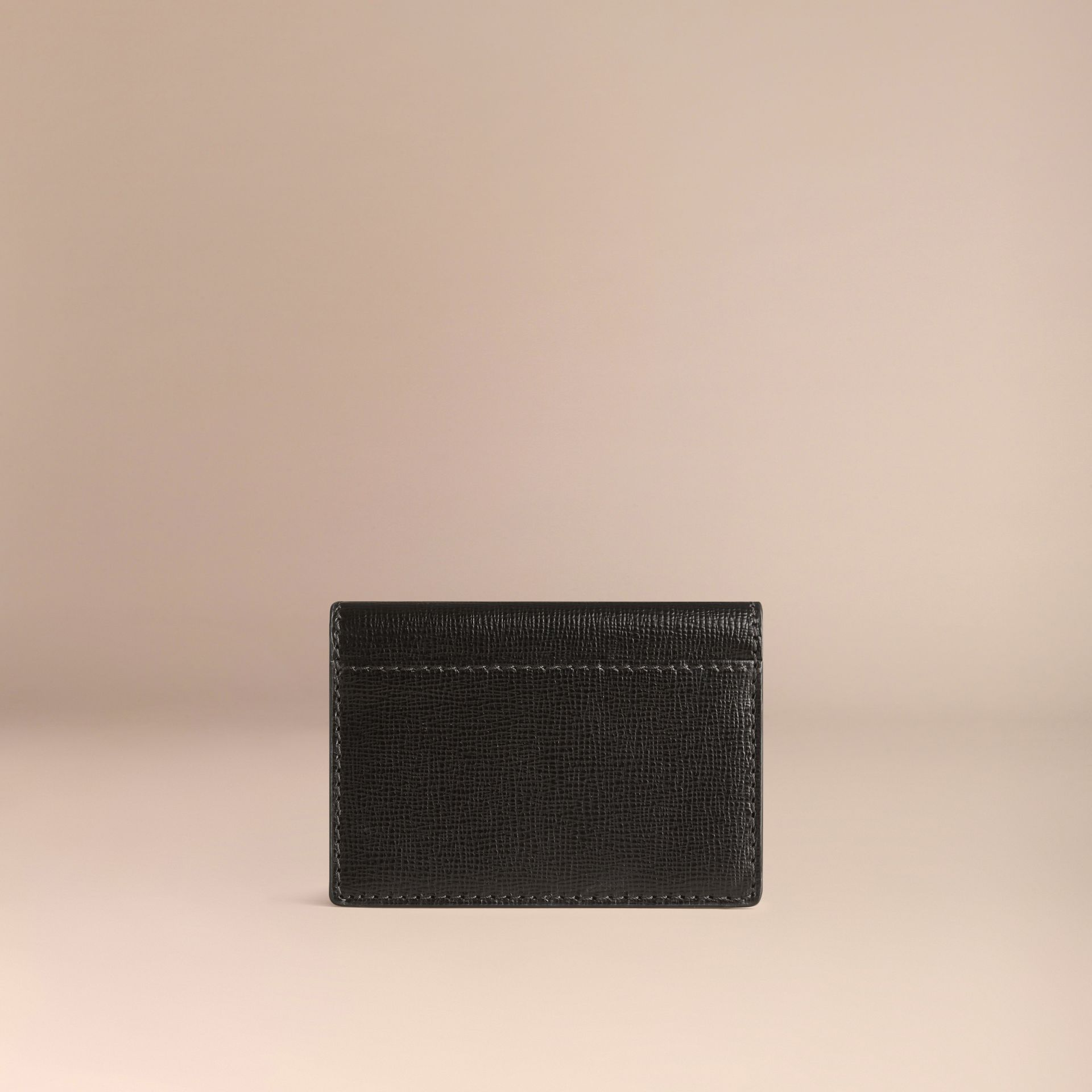 Black London Leather Folding Card Case Black - gallery image 3