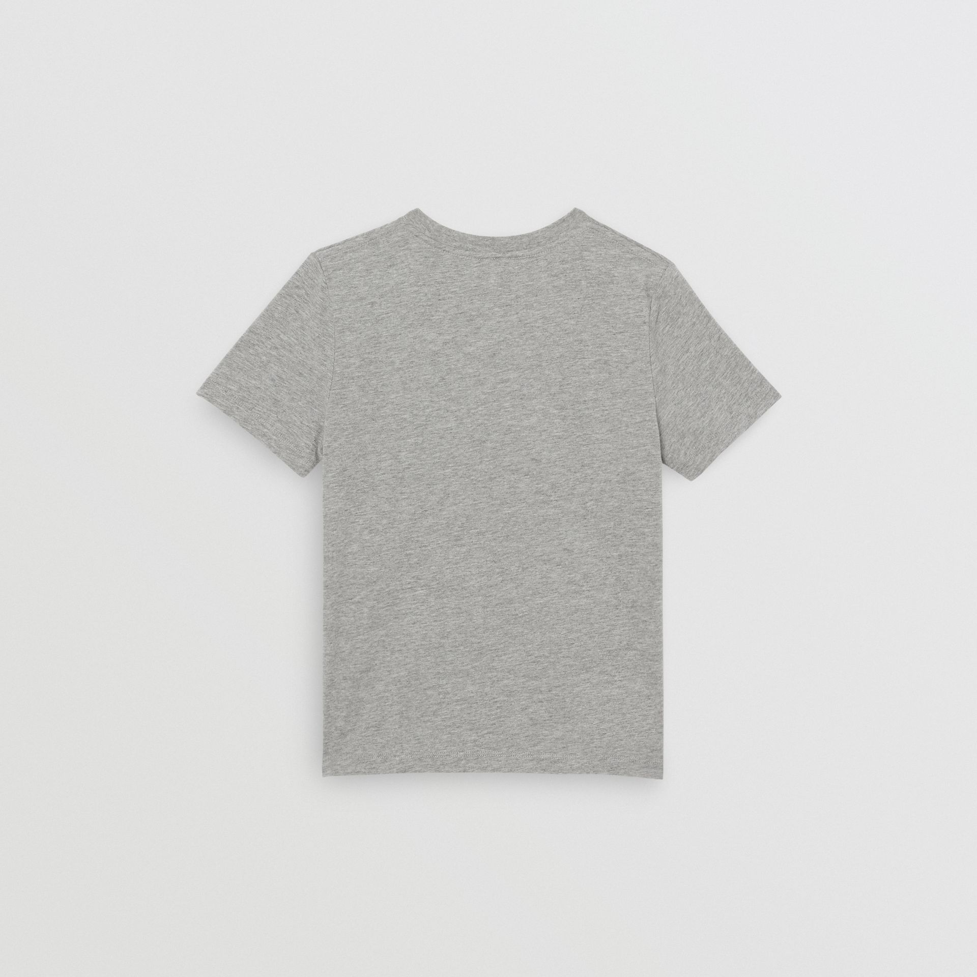 Logo Print Cotton T-shirt in Grey Melange | Burberry Australia - gallery image 4