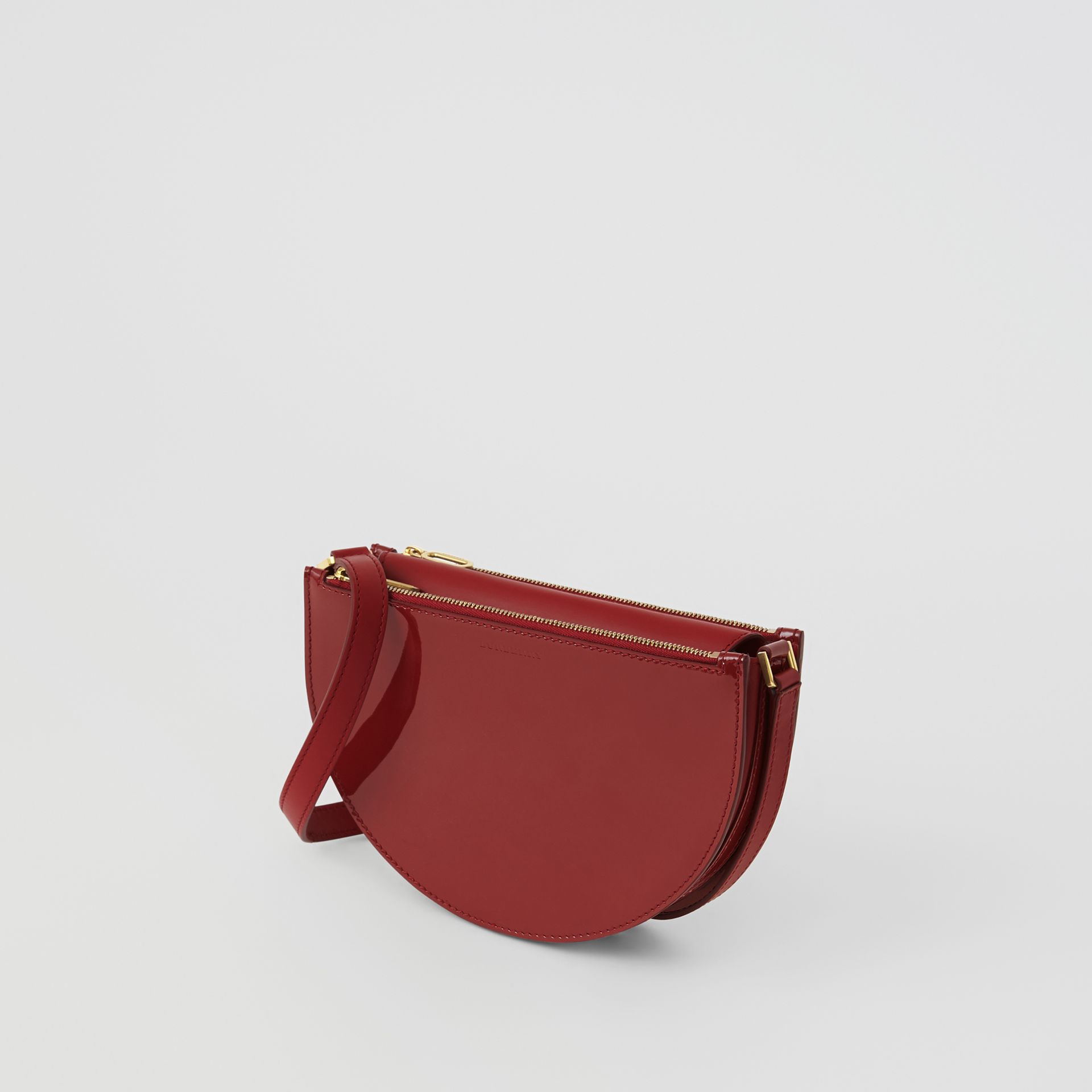 The Small Patent Leather D Bag in Crimson - Women | Burberry United Kingdom - gallery image 4