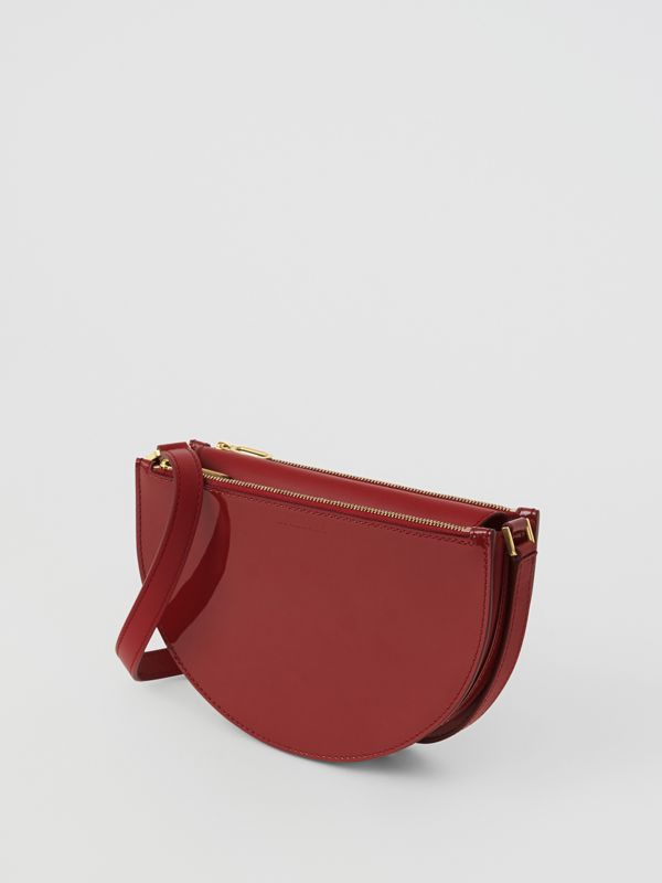 Petit sac The D Bag en cuir verni (Carmin) - Femme | Burberry Canada - cell image 2