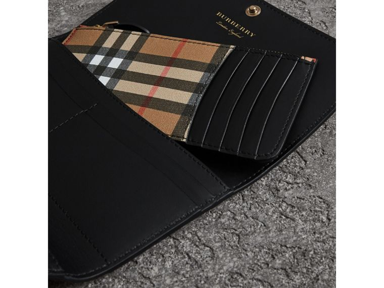 Vintage Check Continental Wallet and Pouch in Black - Women | Burberry United Kingdom - cell image 1