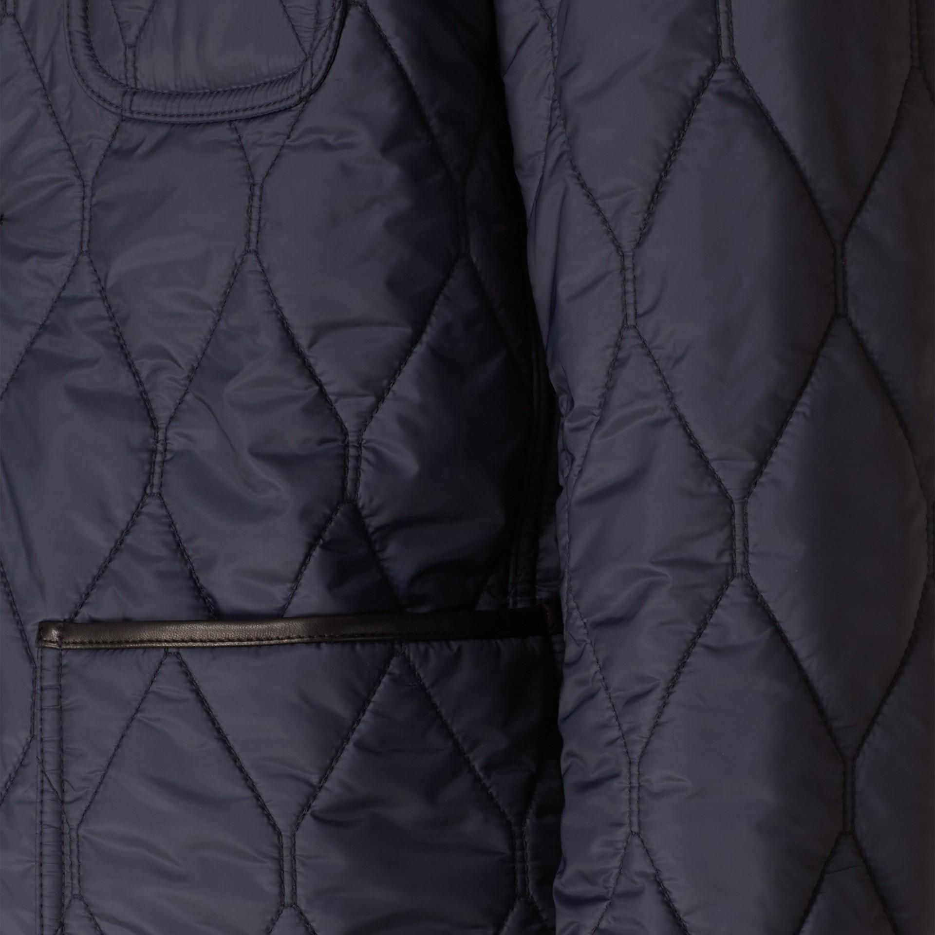 Lambskin Trim Quilted Blazer - gallery image 2