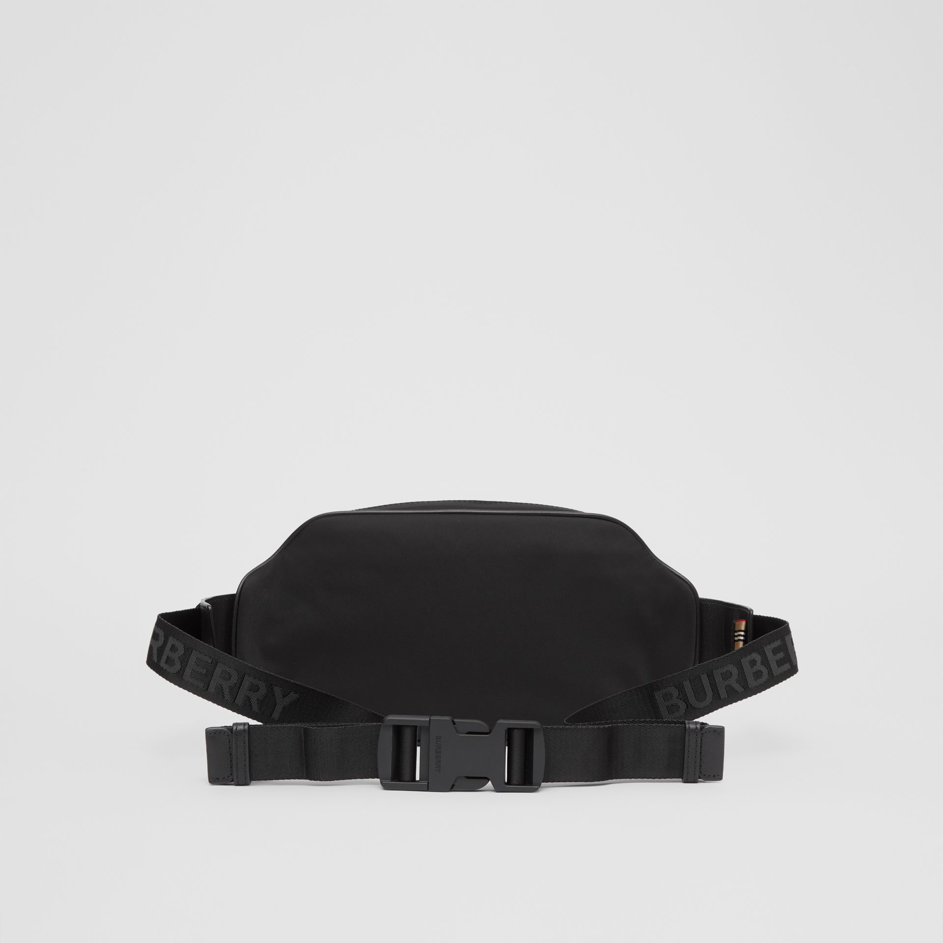 Logo Print ECONYL® Bum Bag in Black - Men | Burberry Australia - gallery image 9
