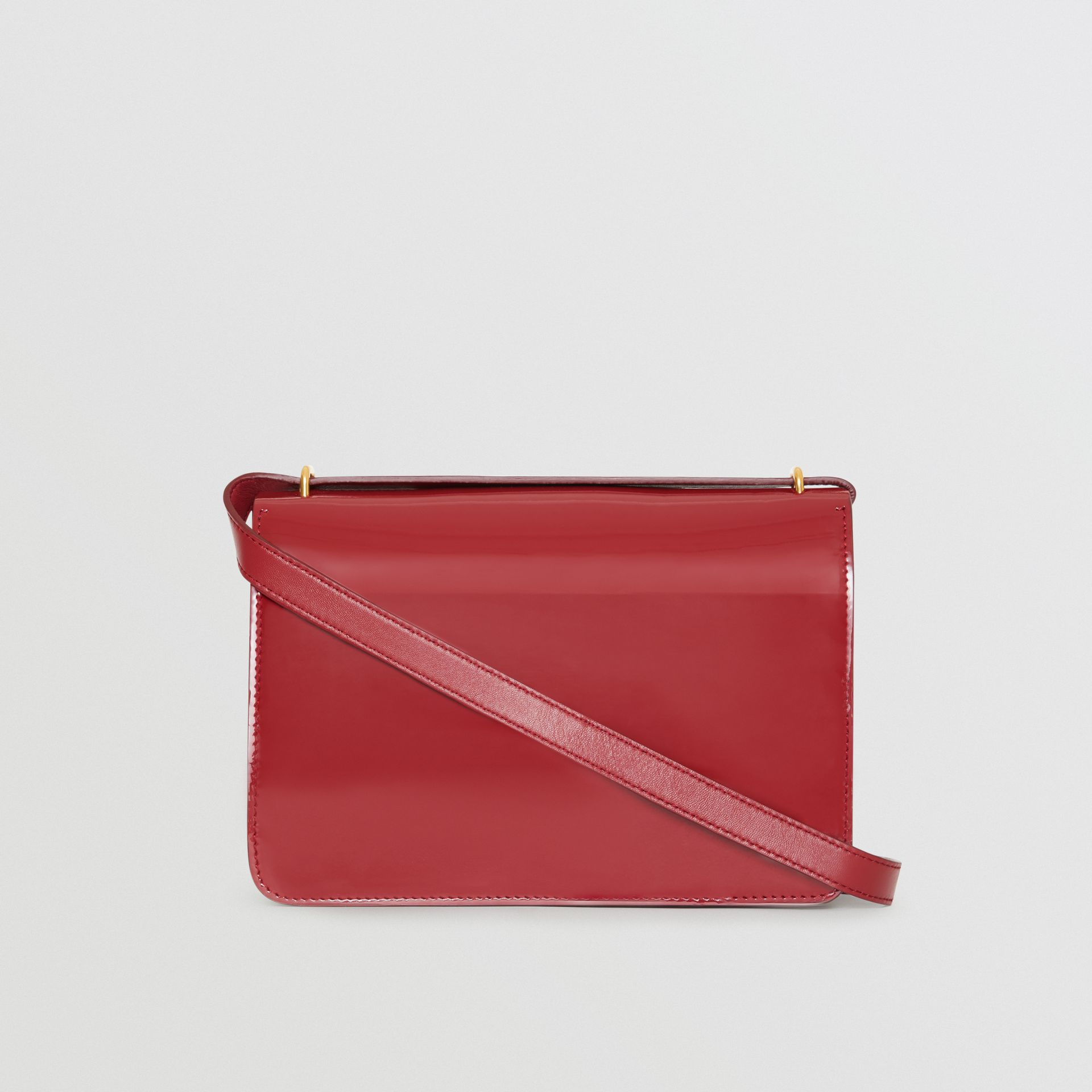 The Medium Patent Leather D-ring Bag in Crimson - Women | Burberry Australia - gallery image 7