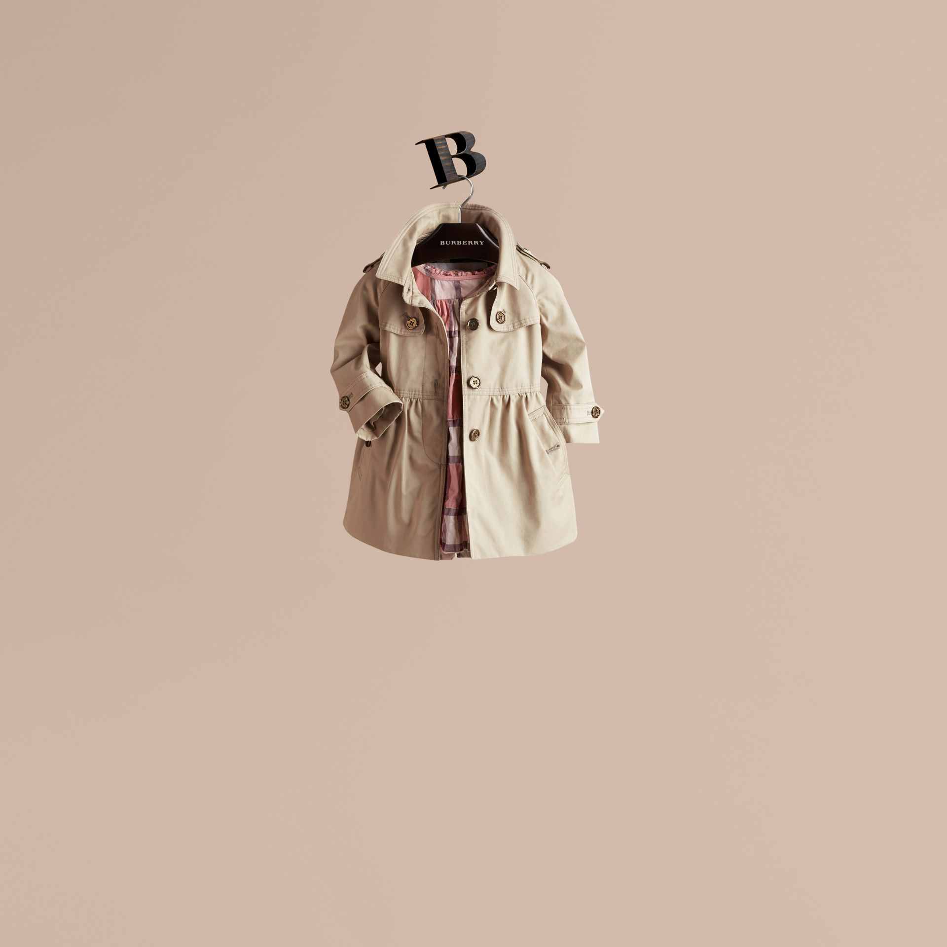Trench Skirted Cotton Twill Trench Coat - gallery image 1