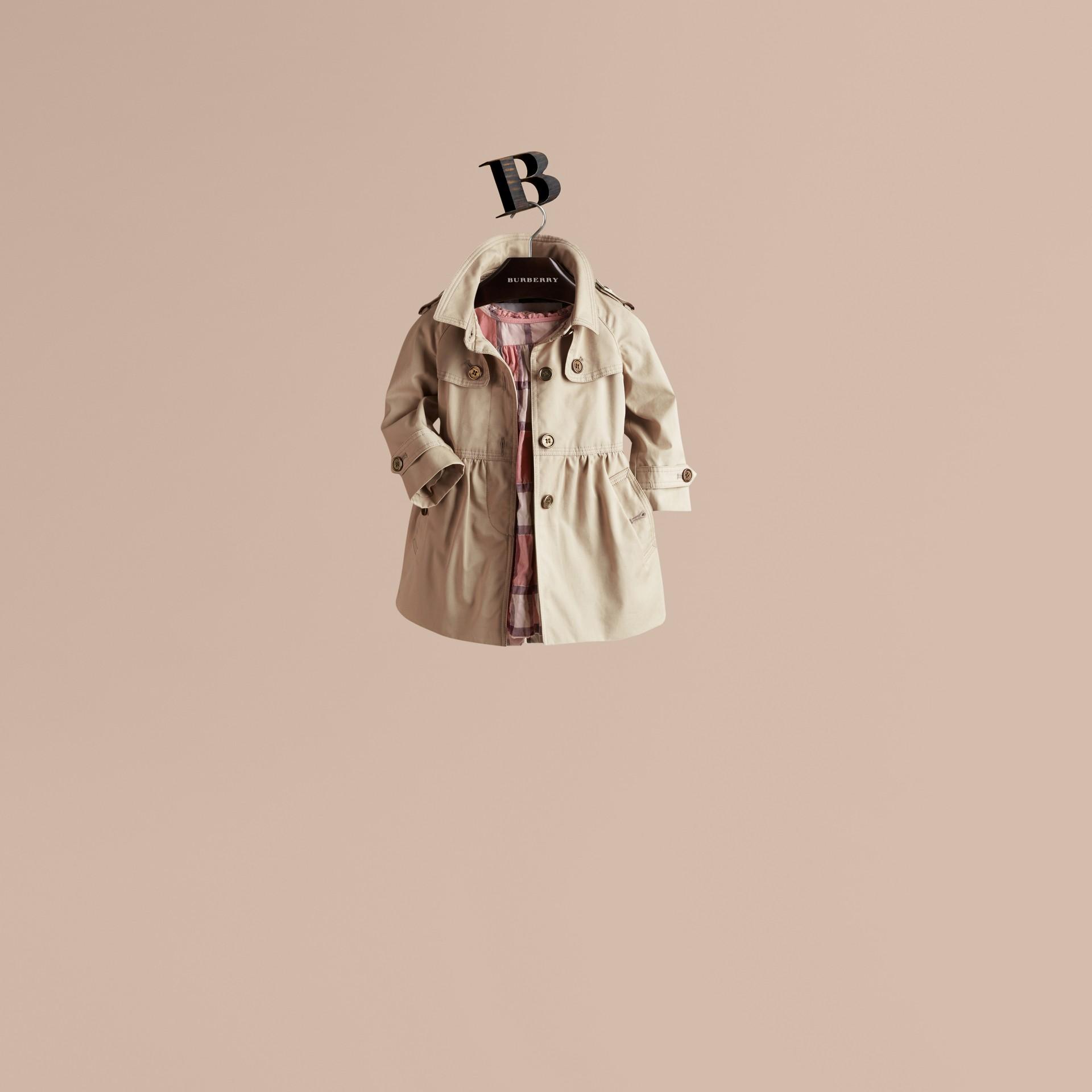 Trench Trench-coat évasé en sergé de coton - photo de la galerie 1