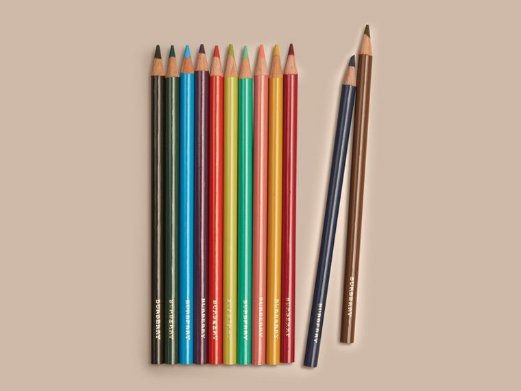 Set of Coloured Pencils in Multicolour | Burberry Hong Kong - cell image 1