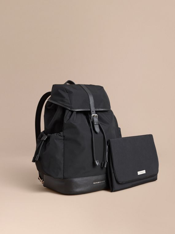Leather Trim Baby Changing Rucksack | Burberry Canada