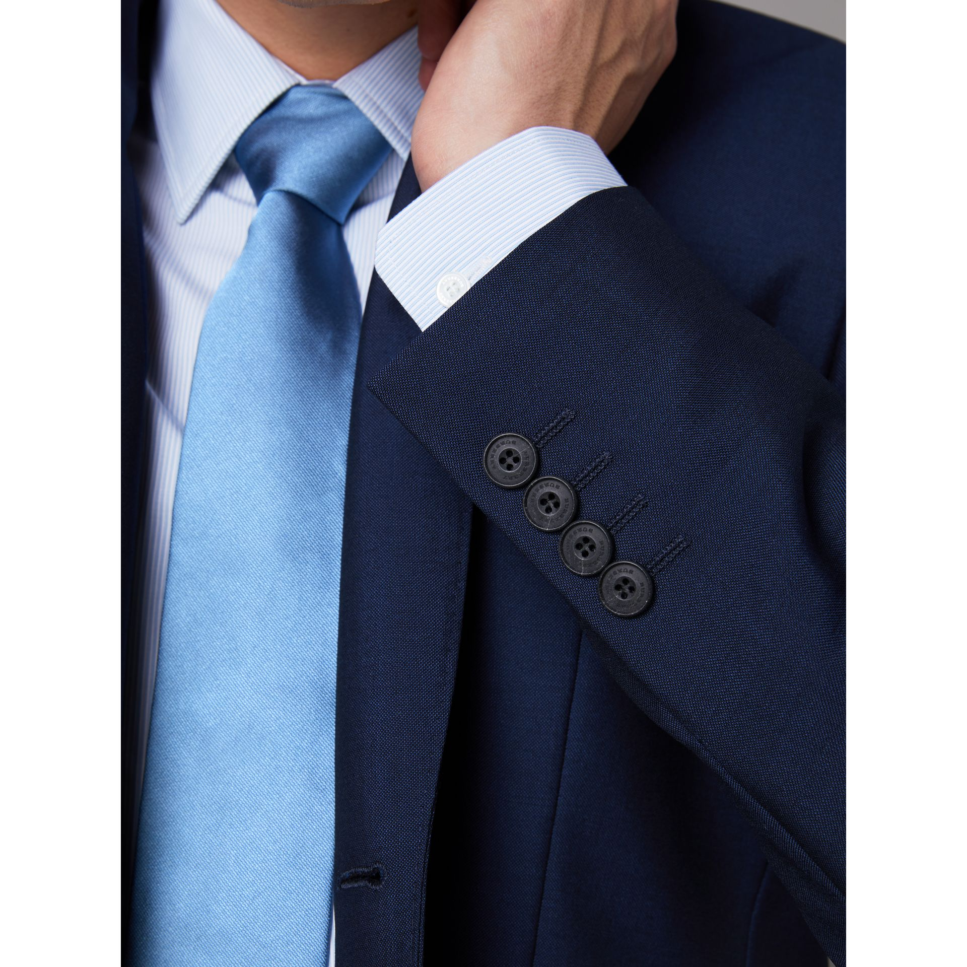 Slim Fit Wool Mohair Suit in Royal Navy - Men | Burberry Hong Kong - gallery image 2