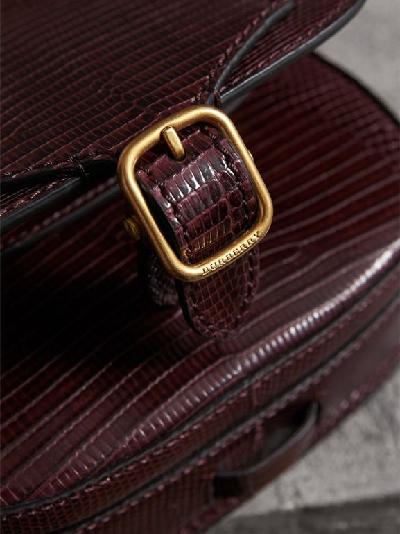 The Satchel in Lizard in Dark Mahogany - Women | Burberry Australia - cell image 1