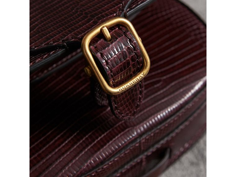 The Satchel in Lizard in Dark Mahogany - Women | Burberry United Kingdom - cell image 1
