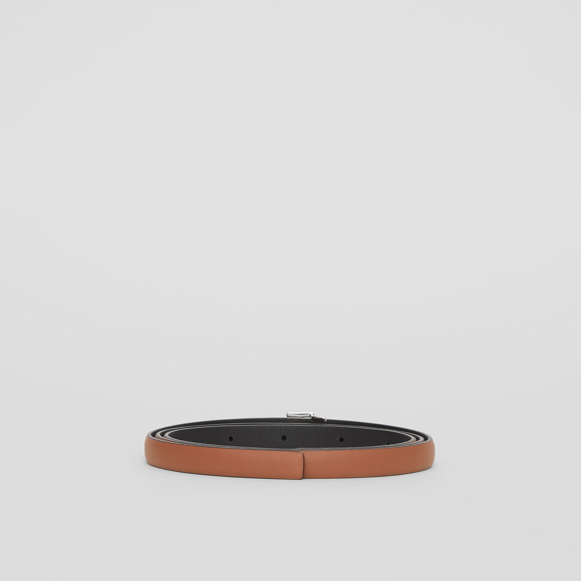 Reversible Monogram Motif Leather Wrap Belt in Malt Brown/black - Women | Burberry Australia - gallery image 4