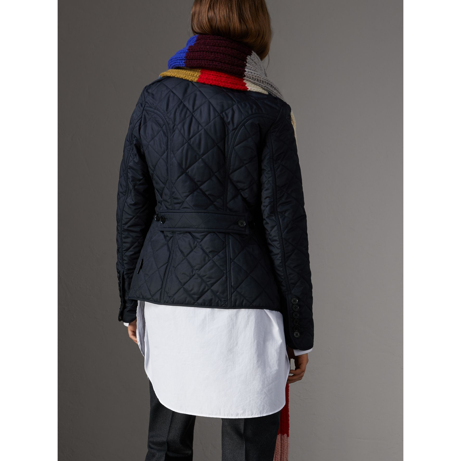 Diamond Quilted Jacket in Navy - Women | Burberry Singapore - gallery image 3