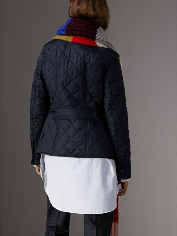 Diamond Quilted Jacket in Navy - Women | Burberry United States - cell image 2
