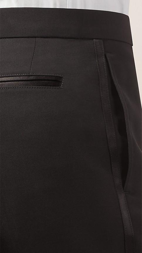 Noir Pantalon de smoking en laine vierge - Image 3