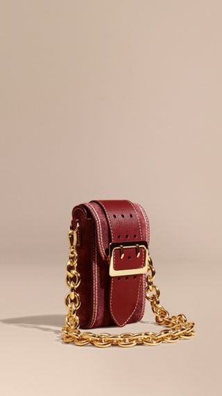 Sac The Buckle oblong en cuir velours