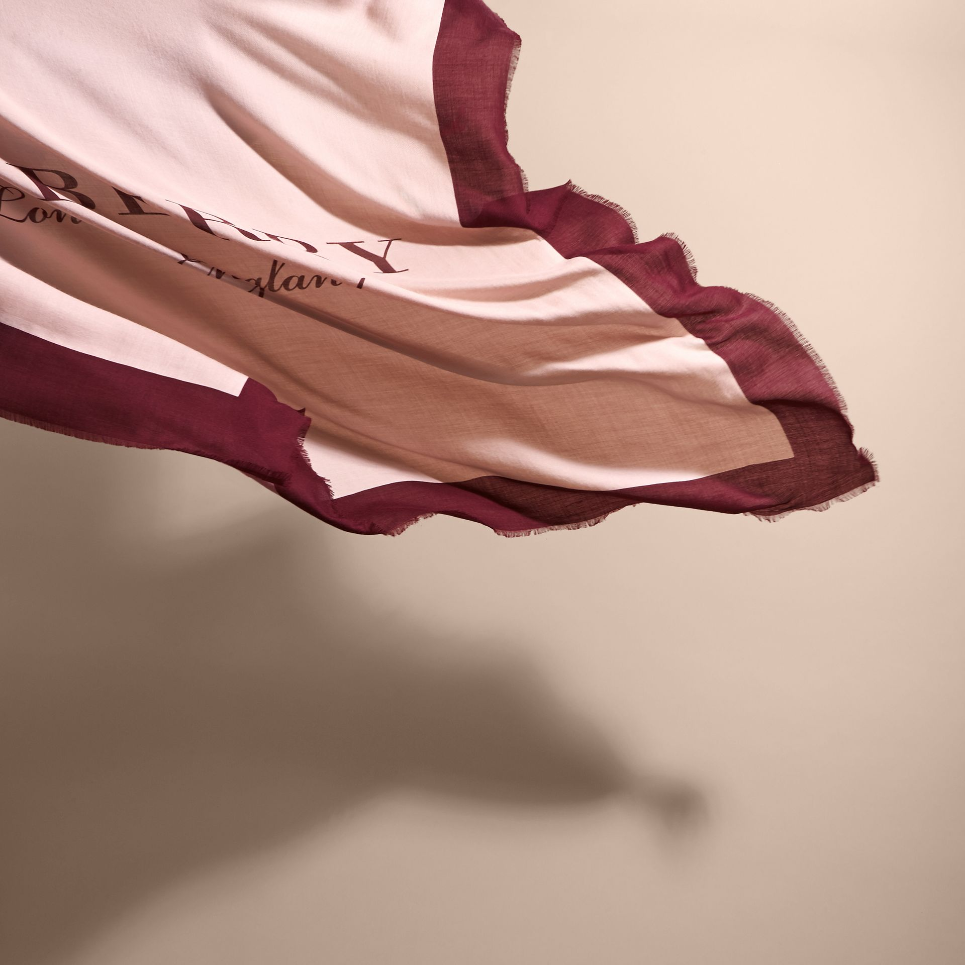 Burberry Print Cashmere Blend Scarf Rose/garnet - gallery image 4