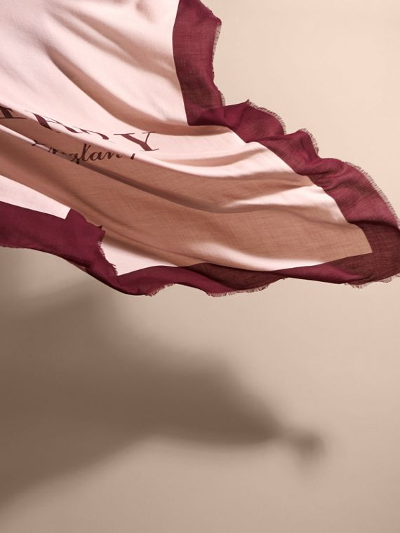 Burberry Print Cashmere Blend Scarf Rose/garnet - cell image 3