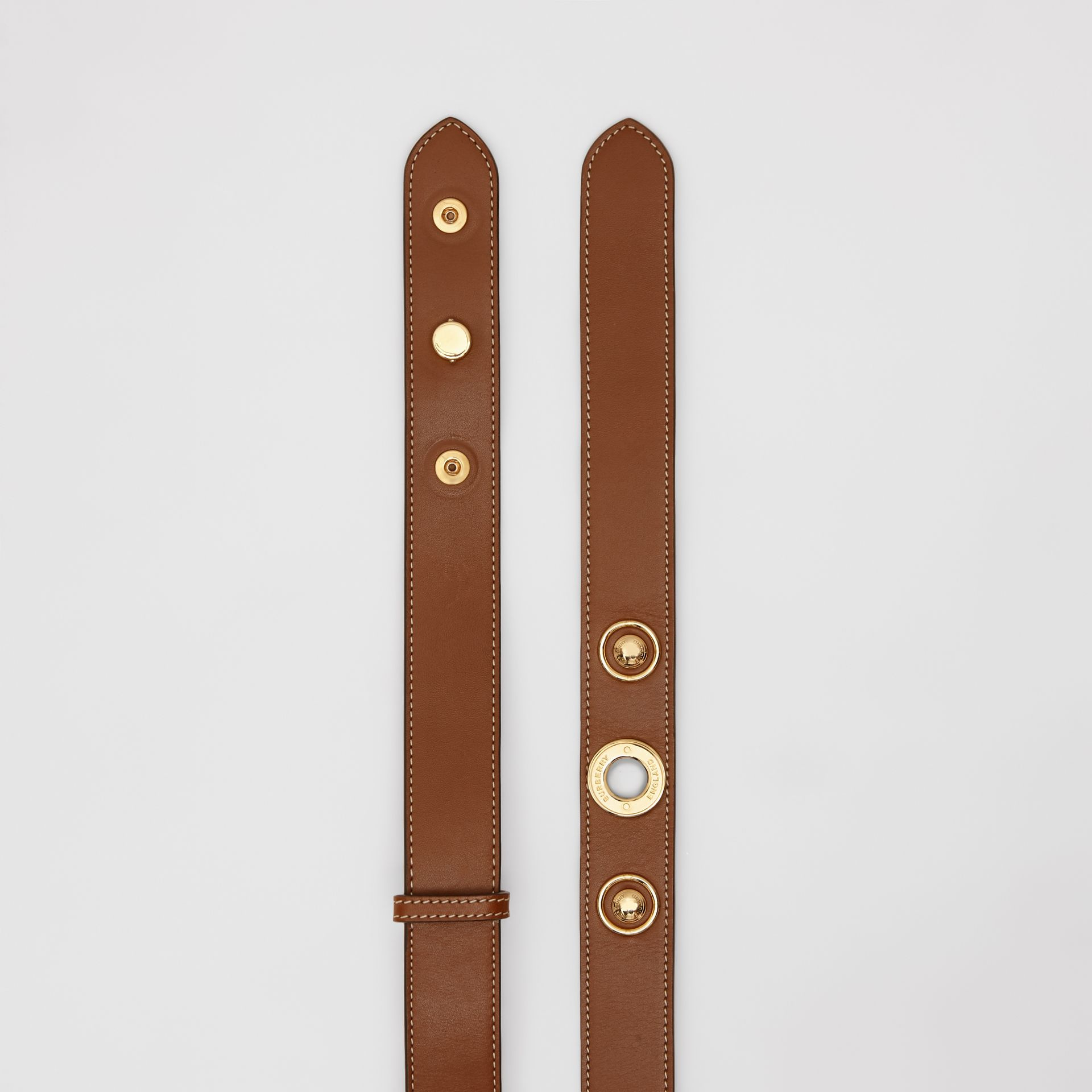 Triple Stud Leather Belt in Tan - Women | Burberry - gallery image 5